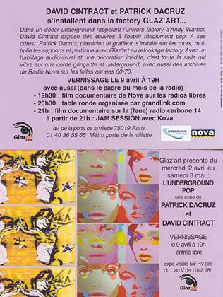 Flyer de l'expo au Glaz'art