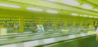 Affiche du métro pour le dernier roman de Paul Auster