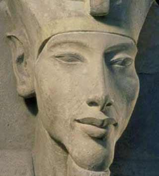 Akhénaton à l'expo Pharaon de l'Institut du Monde Arabe