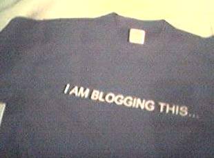 I am blogging this...