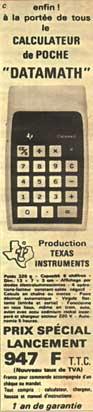 DataMath - Texas Instrument 1972