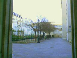 Vue du parc par la rue de Hesse