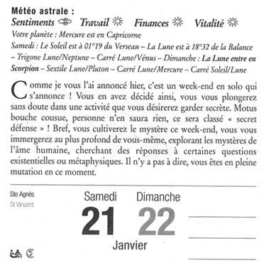 Horoscope de samedi et dimanche dernier