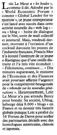 Tribune - Loic Le Meur - U-blog