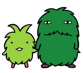 Les deux mascottes de l