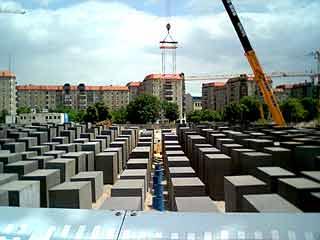 Mémorial de l\'holocauste à Berlin en travaux en 2004