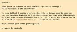 Mail de la mairie de confirmation de mon message