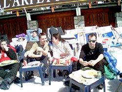 Matoo à Montchavin avec ses amis