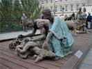 Ousmane Sow sur le Pont des Arts - 1999 - Peulh