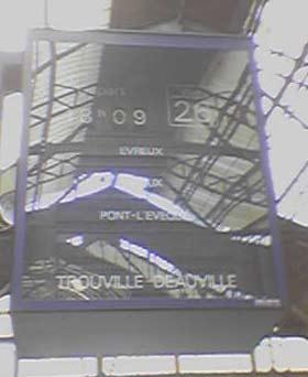 Affichage pour Deauville