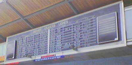 Panneau horaires gare saint lazare