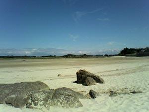Plage bretonne à marée basse