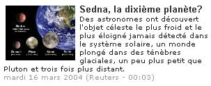 Découverte d'une dixième planète ?