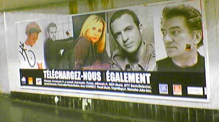 Pub pour le Téléchargement légal dans le métro