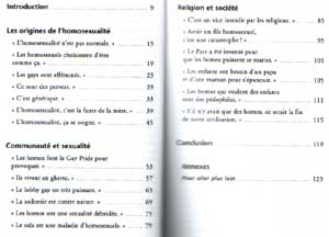 Sommaire - Les homosexualites