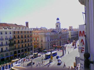 Vue de ma chambre à Madrid