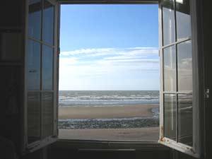 Vue de la chambre de Villers sur mer