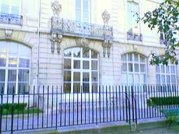 Vue d'une façade du parc