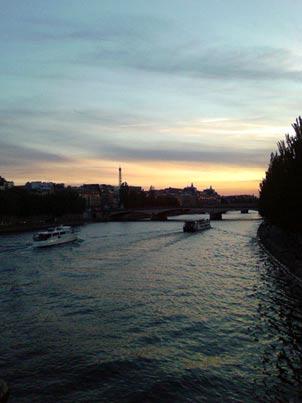 La Seine vue du Pont des Arts