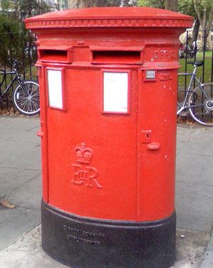 Boite aux lettres à Londres