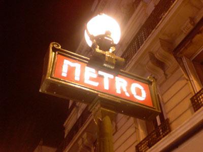 Métro Goncourt cette nuit