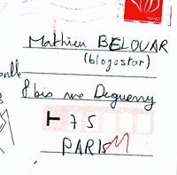 "Carte postale ""blogostar"""