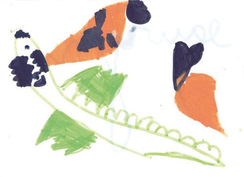 Le dinosaure et la carotte