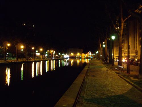 Canal Saint-Martin la nuit