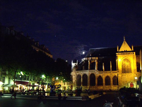 Eglise Saint Merri la nuit