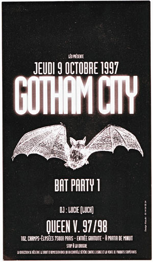 Gotham City Party au Queen - 1997