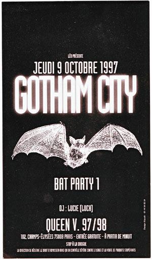 Gotham City Party au Queen - 1997