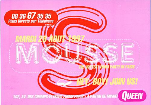 Soirée Mousse au Queen - 1997