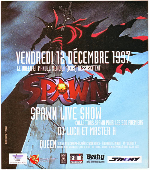 Soirée Spawn au Queen - 1997