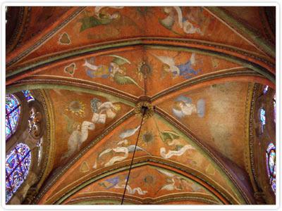 Les 47 anges musiciens du plafond de la Cathédrale Saint-Julien - Le Mans