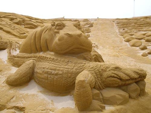 Sculpture de sable au Touquet