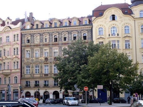 Immeubles dans le centre de Prague