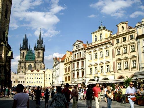 Place du centre-ville de Prague