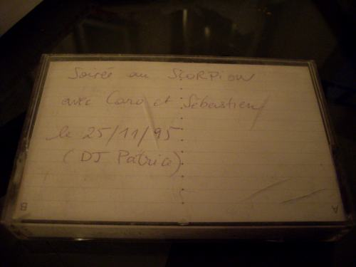 Cassette avec le mix du Scorp du 25/11/1995
