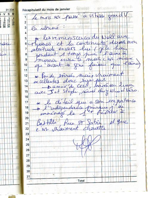 Résumé de janvier 1998