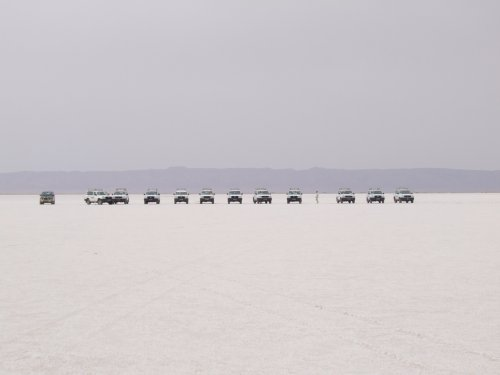 Les 4X4 sur le lac salé
