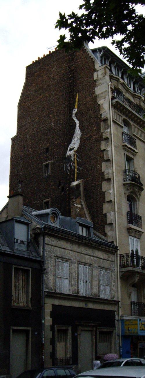 La cigogne du Boulevard Richard Lenoir