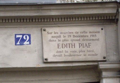 72 rue de Belleville - plaque à propos d