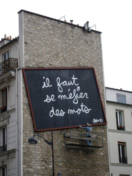 Place Fréhel - Il faut se méfier des mots Ben 1993