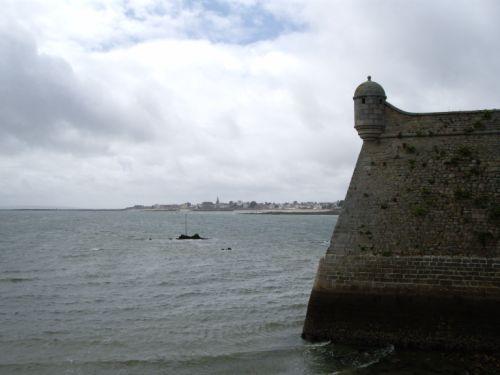 Vue de Lorient de la Citadelle de Port-Louis