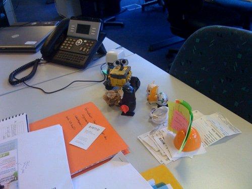 Mon WALL-E de bureau