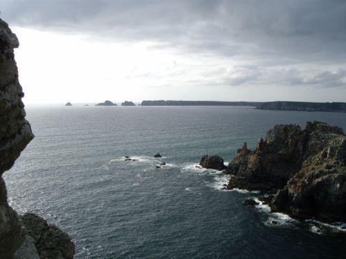 Vue du tas de pois à la Pointe de Dinan