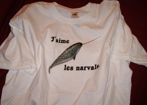 J'aime les narvals - le ticheurte