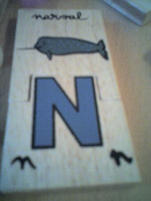Un narval pour apprendre la lettre N ?