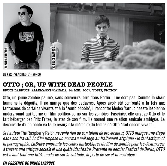 Otto ; or, Up with Dead People - Bruce LaBruce