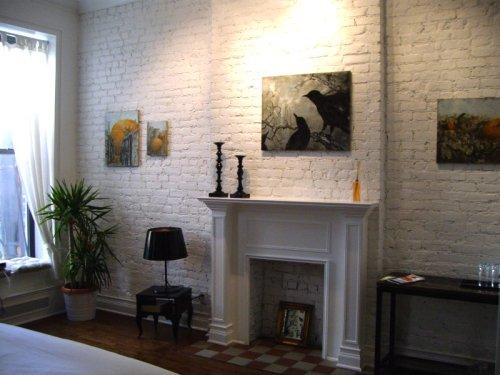 La cheminée dans la chambre à New York